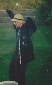 Jace in the rain in 2000